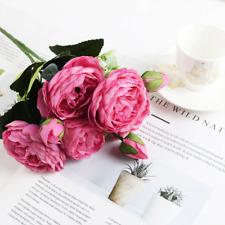 1 Bundle Artficial Silk Rose Flower bouquet Home Decoration Accessories