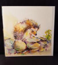 Sheila gill Beautiful Hedgehog 'florence' artistic blank open greeting card