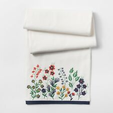 Threshold White Floral Embroidered Table Runner TARGET