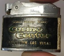 VTG FLAT ADVERTISING LIGHTER. CASINO CENTER. WORLD BRIGHTEST SKYLINE. LAS VAGAS