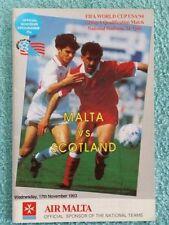 Malta World Cup Home Teams L-N Football Programmes