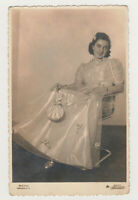Pretty Young Smiling Girl Super Cute Face Woman Female Lady 1950s VTG Old Photo