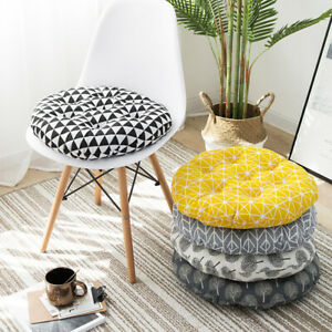 Round Chair Cushion Booster Seat Pads Thick Patio Outdoor Garden Dining Kitchen