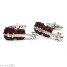 High Quality Brown Coloured Violin Cufflinks