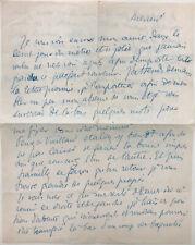 Félix VALLOTTON - Lettre autographe signée à Thérèse Debains (1919)