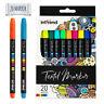 int!rend Textilmarker 20 Stoffmalstifte inkl. 4 Neon UV Farbic Schuhen T-Shirts