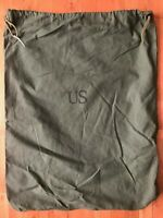 (2) US Army BARRACKS BAG OD Green 100% Cotton Large Laundry Bag Military