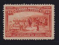 Canada Sc #102 (1908) 15c orange Quebec Tercentenary Mint H