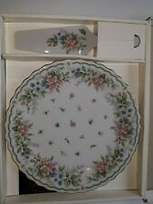 Andrea by Sadek Fine Porcelain China 10.5 in Cake Plate & Server Preowned
