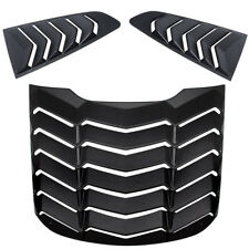 Rear Window Louvers Quarter Side Scoop Cover Hood Vent For Ford Fastback Mustang