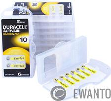 60 x DURACELL ACTIVAIR Apparecchi Acustici Batterie dimensioni 10 audizione St. 10x6 24610 6118