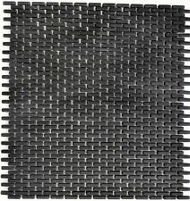Mosaico piastrella vetro ottuso nero muro/suolo bagno cucina: 140-B21B I1 foglio