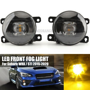 LED Fog Light Lamp For Subaru WRX / STI 2015 16-2020 Smoke Lens Replacement PAIR