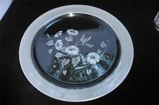 AVON LEAD CRYSTAL HUMMINGBIRD Small Torte Plate Platter