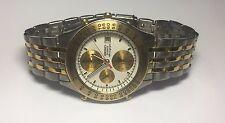 Nos 1991 Seiko 7T42-7A6L Chronographe à Quartz Alarme Pulse Mètre Montre Réf.