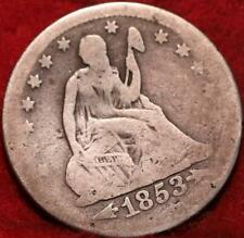 1853 Philadelphia Mint Silver Seated Liberty Quarter with Arrows and Rays