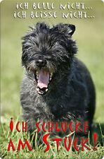 CAIRN Terrier - A4 Metall Warnschild Hundeschild SCHILD Türschild - CRT 01 T11