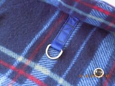 Fleece Dog Coat - sizes XS, S, M - Handmade - Blue Plaid Design - USA Seller