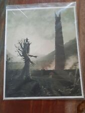 Lord Of The Rings 8x10 Loot Crate Print, Ent Arriving At Mordor With Hobbits