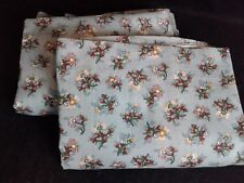 "Country Cottage Cabin Cozy Curtains Blue Floral 2 Panels Lined 34"" x 84"""