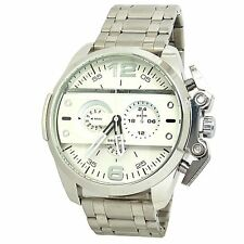 MONTRE HOMME DADDY IRONSIDE ARGENT CARBONE ONLY THE BRAVE BLANC XXL IDÉE CADEAU