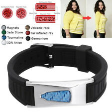 7in1 Bio Titane Magnétique Énergie Brassard Puissance Bracelet Santé Douleur A C