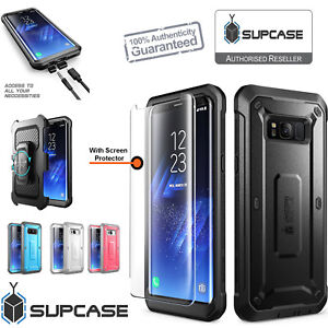 Samsung Galaxy S8 Plus Case Rugged Holster Tempered Glass Screen Protector SUPCA