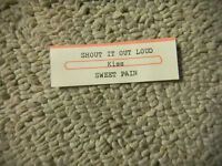 JUKEBOX STRIP only  KISS shout it out loud  JUKEBOX TITLE STRIP ONLY  45