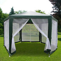 Quictent® 6.6x 6.6 x 6.6 Hexagon Party tent Canopy Screen House Mesh Wall Green