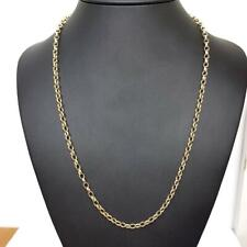 Gold Belcher Chain 9ct Yellow Gold 4mm Wide 18.9g 22 Inches