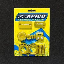 RMZ 250 07-16 RMZ 450 05-16 BLING PACK AXLE BLOCKS CYLINDER COVER PLUGS GOLD
