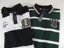 Polo Ralph Lauren SS PRL Rowing or Football Club Quilted Rugby Shirt $125 NWT