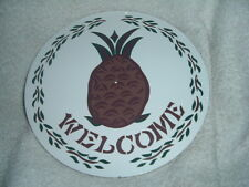"""ZOOK Novelties PA Dutch  8"""" HEX SIGN, Pineapple Welcome (H-30)"""
