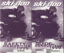 1999 SKI-DOO TUNDRA & SKANDIC SNOWMOBILE OPERATOR'S GUIDE FRENCH ONLY (238)