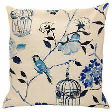 Prestigious Textiles Geisha Birds Blue Cushion Cover 16''