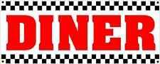 DINER All Weather Banner Sign 4 New Restaurant Bar Food Truck Equipment 50's