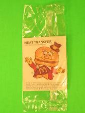 1977 McDonalds - Fun-To-Go *Test* - Heat Transfer - Mayor McCheese *MIP*