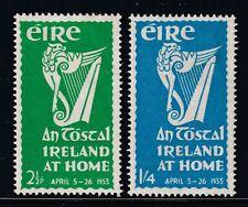Ireland SG 154-155 Scott 147-148 VF MH 1953 An Tostal Ireland at Home Set Harp
