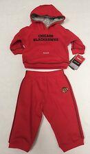 NHL Chicago Blackhawks Infant Reebok Face Off Apparel Sweatshirt & Sweatpants