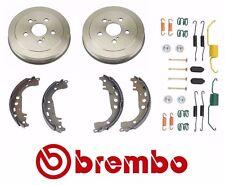Toyota Corolla Prius Brembo Rear Brake Drums + Shoes + Hardware Kit