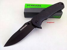 "Schrade 4.71"" Index Flipper Folding Pocket Knife SCH003 L/Lock Drop Point Blade"
