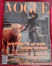 VOGUE British 11/1991 Irving Penn Princess Diana Vanessa Paradis Anthony Hopkins