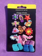 10 x Mixed Croc, Cloggy Shoe Badges, Shoe Charms, Embellishments Girl