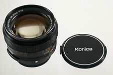 Konica Hexanon AR 1,2/57 57 57mm f1, 2 1,2 Super casi adaptable a7 eos MFT Nex
