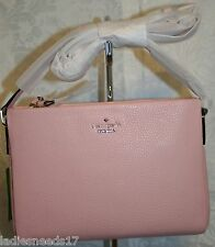 KATE SPADE LILIBETH HOLDEN STREET ROSEJADE PEBBLE LEATHER CROSSBODY PWRU4441