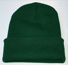 Men's Women Beanie Knit Ski Cap Hip-Hop Blank Color Winter Warm Unisex Wool Hat