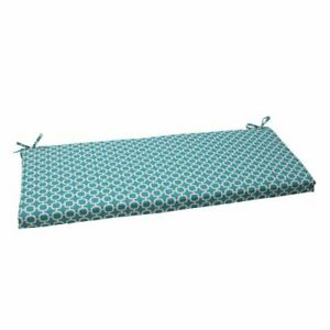 Pillow Perfect Outdoor/Indoor Hockley Teal Bench/Swing Cushion Green Blue