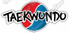 "Taekwondo Martial Art Fighting Sparring Car Bumper Vinyl Sticker Decal 6""X3"""