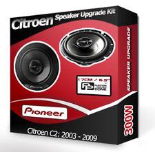 Citroen C2 Front Door Speakers Pioneer car speakers 300W