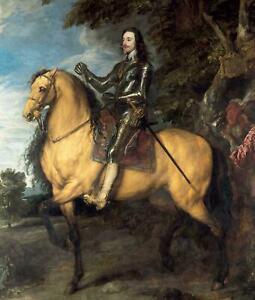Portfolio, National Gallery Greeting Card Equestrian Portrait of Charles 1 by Va